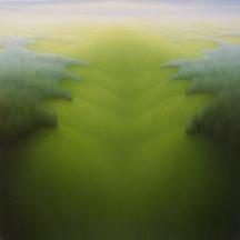 """Ripple, oil on wood, 12"""" x 12"""", 2003."""