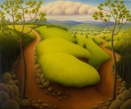 """Untitled, oil on wood, 10"""" x 12"""", 2008."""