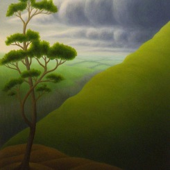 "Eastern Storm, oil on wood, 13"" x 11"", 2004."