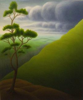 "Eastern Storm, oil on wood, 13"" x 11"", 2004."