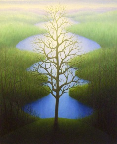 """Ellie Pond, oil on wood, 13"""" x 11"""", 2004."""