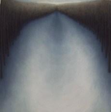 "Gray Dip, oil on wood, 12"" x 12"", 2004."