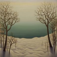 """Lake Ontario, oil on wood, 12"""" x 12"""", 2006."""