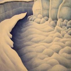 Untitled - Pressure Ridges II, oil on wood, 10 x 11 inches, 2012.