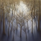 "Winter Woods, oil on wood, 12"" x 12"""