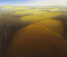 """March Hills, oil on wood, 12"""" x 14"""", 2005."""