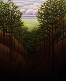 "Pine Valley, oil on wood, 12"" x 10"", 2006."