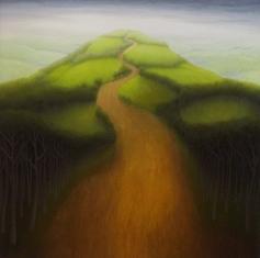 "Castle Hill, oil on wood, 12"" x 12"", 2005."