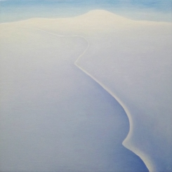 Sea Ice III, oil on wood, 12 x 12 inches, 2012.