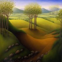 """Shepard's Hill, oil on wood, 12"""" x 12"""", 2007."""
