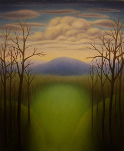 "Untitled (November II), oil on wood, 10"" x 8"""