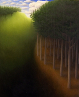 """Untitled (Pines), oil on wood, 12"""" x 10"""", 2007."""