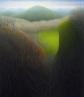 "Untitled - Tangle II, oil on wood, 14"" x 12"""