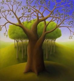 """Untitled, oil on wood, 12"""" x 10"""""""