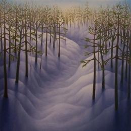 """Untitled, oil on wood, 12"""" x 12"""", 2009."""