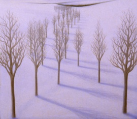 "White Snow, oil on wood, 10"" x 11"", 2003."