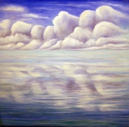 Clouds and Water 2, oil on wood, 12 x 12 inches, 2014.
