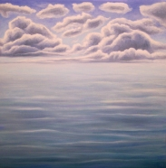 Clouds and Water 3, oil on wood, 12 x 12 inches, 2014.